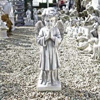 Engel jongen biddend