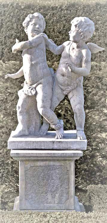 Engel zwei Jungen groß