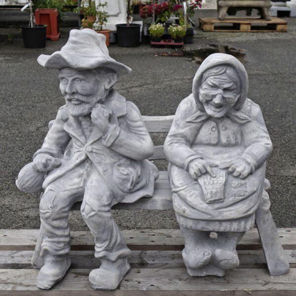 Paar Opa und Oma Bank
