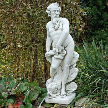 Mannenbeeld Man met vis