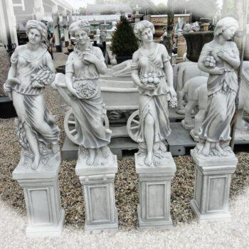 Steinfiguren von Frauen vier Jahreszeiten 147cm