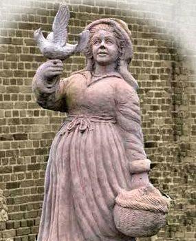 Vrouw met duif