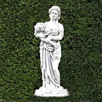 Vrouw met bloemen 118 cm