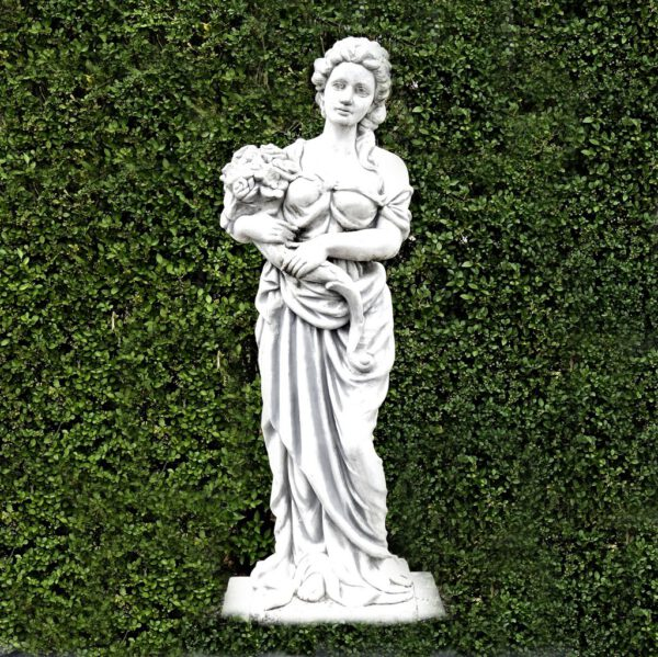 Frau mit Blumen 118cm