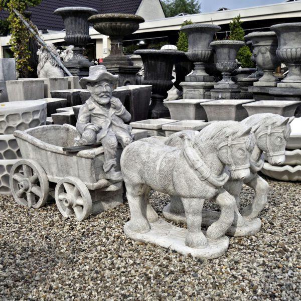 Paard en wagen groot