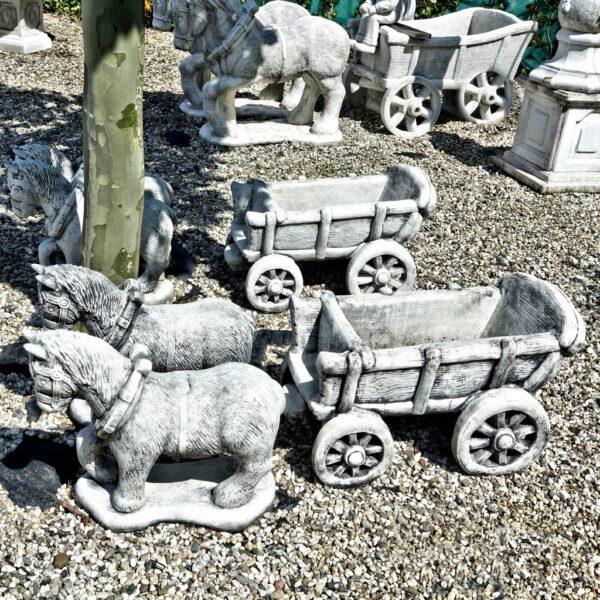 Paard en wagen klein