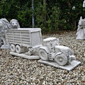 Tuindecoratie Tractor met kar