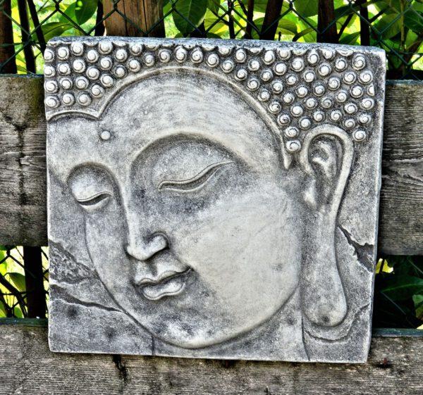 Wanddecoratie Boeddha 38cm schuin kijkend