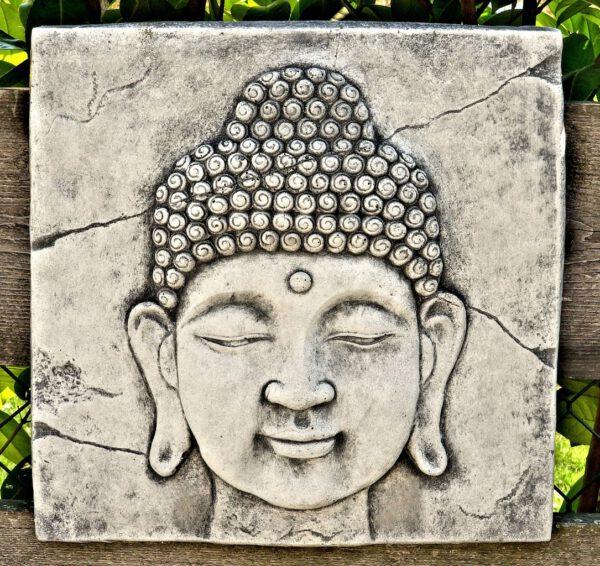 Wanddecoratie Boeddha 38cm recht kijkend