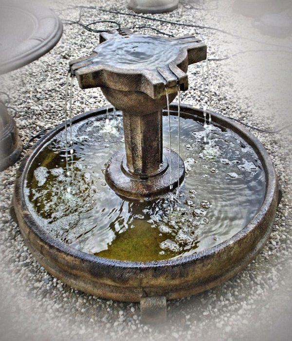 Overflowing Cross Fountain