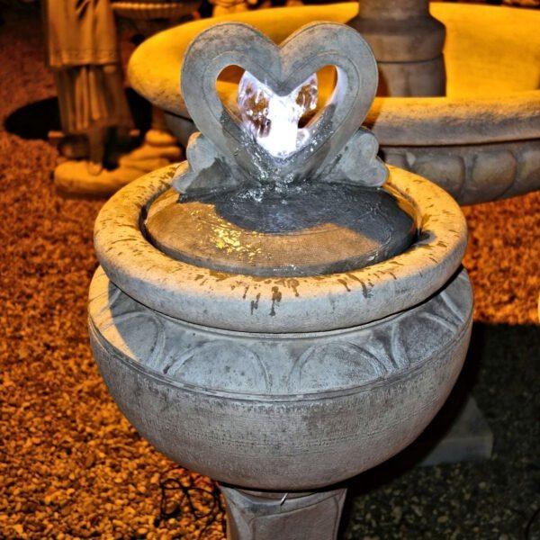 Tall Fiery Flame Bubbler Fountain