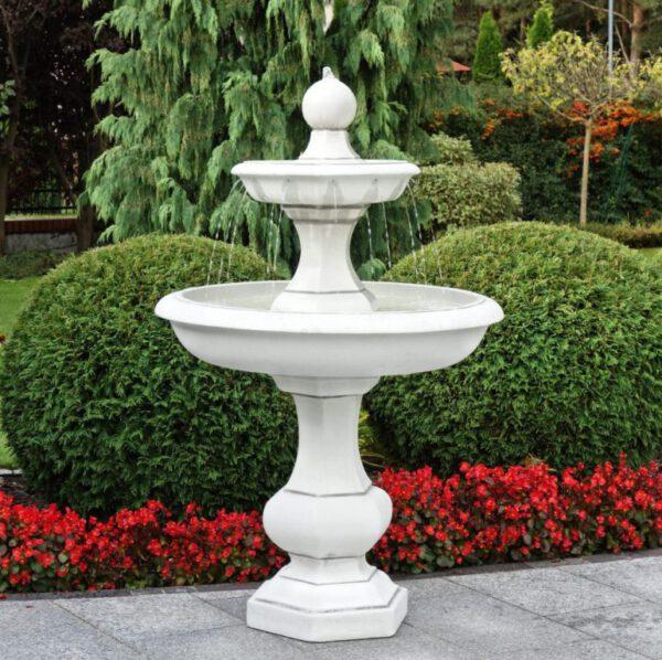 2 Schalen fontein met bol stralen