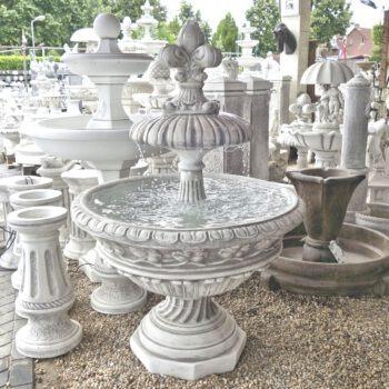 Diepe fontein met waterlelie