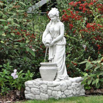 Meisje met kruik fontein